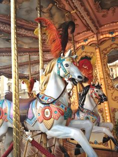 A beautifully restored, old carousel always makes me smile. This one is in…
