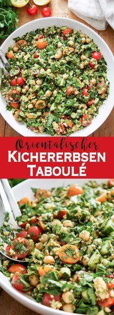 Eine einfache und gesunde Variante des Klassikers aus dem Nahen Osten. Das Rezept für orientalisches Kichererbsen Taboulé Salat mit frischen Kräutern (Dill, Petersilie, Minze) und Hirse ist glutenfrei und vegan. Doch vor allem schmeckt es unglaublich gut! Clean-Eating. Low.Carb. Elle Republic