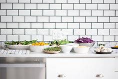 I think I really do want subway tiles with dark grout in my kitchen.