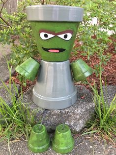 A personal favorite from my Etsy shop https://www.etsy.com/listing/281339726/free-ship-oscar-the-groutch-planter-pot