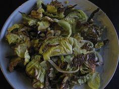 roasted cabbage with umeboshi vinegar