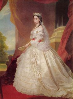 Franz Xaver Winterhalter (1805–1873)   Portrait of Charlotte of Belgium (1840-1927), Empress of Mexico  1864