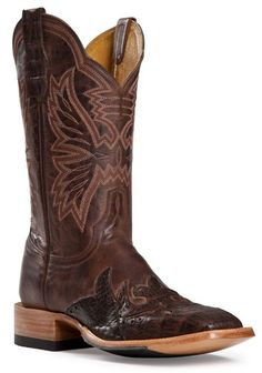 Womens Cinch Boots DS Mad Dog Chocolate Wingtip Cowboy Boots