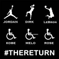 NBA Edition #TheReturn. #GetWellSoonEveryone - http://nbafunnymeme.com/nba-memes/nba-edition-thereturn-getwellsooneveryone