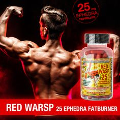 Cloma Pharma Red Wasp 25 Ephedra Extremer Fatburner mit 25 mg Ephedra. Workout, Training, Fatty Acid Metabolism, Health, Work Out, Work Outs, Excercise, Onderwijs
