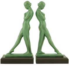 1stdibs.com | Pair of Art Deco Metal Bookends by Fayral