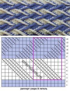 узор 487 тканый узор | каталог вязаных спицами узоров