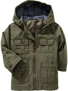 Canvas Utility Jackets for Baby Like a little Dean Winchester :)