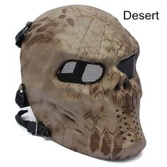 Camo Ghost Airsoft Mask for Airsoft, Helloween Mask Images, Airsoft Helmet, Skull Mask, Skeleton Mask, Half Face Mask, Stainless Steel Mesh, Body Armor, Tactical Gear, Tactical Clothing