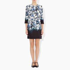 Shop Emma Dress IN Blue Hill Garden print from the Spring/Summer 2016 collection, now available  at Erdem.com.