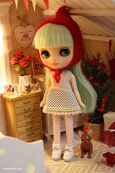 Xmas Time!! by Keera  #doll #blythe #middieblythe #xmas #cute