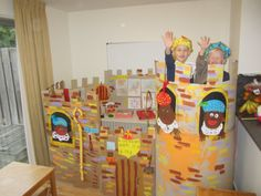 knutselen met karton - het kasteel van Sinterklaas. Wauw!