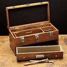 Beautiful wood tool chest is timeless and durable.