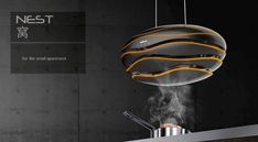 No that isn't a UFO hovering over your stove... The Nest is a conceptual smart-chimney with some seriously good looks. It has the ability to open
