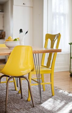 yellow chairs!