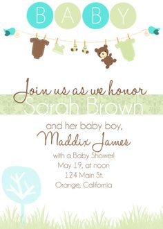 #PampersPinParty Baby Shower Invitations