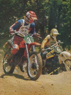 Marty Smith vs Bob Hannah - Vintage Honda - Yamaha Motocross