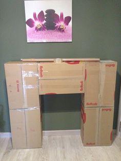 chimenea decorativa carton ideas para decorar en navidad