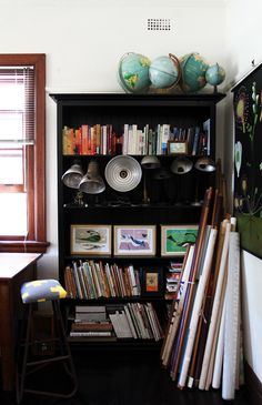 Our office / Steve and Helena Trupp // empirical style Melbourne House, Granny Chic, The Design Files, Work Inspiration, Storage Cabinets, Bookshelves, Interior Architecture, Painted Furniture, Shelving