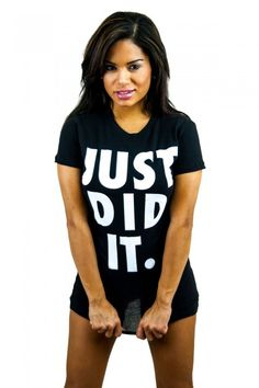 """Just did it."" tee"
