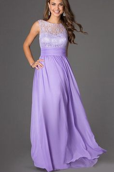 1a7de8d92148 Radiate class this season in this stunning light purple chiffon maxi dress  on