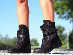 Crochet Mat, Boots Women, Shoe Boots, Shoes, Leather Boots, Black, Fashion, Moda, Zapatos