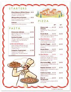 Restaurant Menu Design Templates - Italian and Pizza Menus Restaurant Menu Design, Pizza Restaurant, Restaurant Recipes, Pasta Menu, Italian Menu, Pizza Logo, Menu Layout, Food Clipart, White Pizza