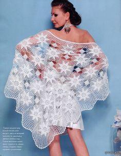 """"""" MOSSITA BELLA PATRONES Y GRÁFICOS CROCHET """": Chal con estrellas a crochet..."""