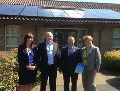 Huntingdonshire District Council Executive Leader Jason Ablewhite and Joanne Lancaster Managing Director visit WATA - West Anglia Training Association Lancaster, Train