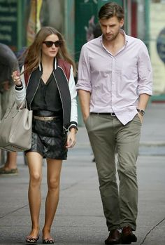 Olivia Palermo with Johannes Huebl in New York City.