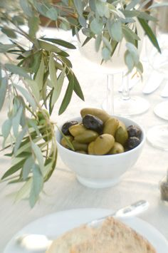 olives & olive leaves at our Santa Barbara wedding | design by Lisa Vorce with Mindy Rice, photos by Aaron Delesie