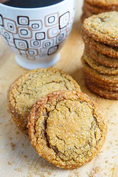 Gingersnap Cookies - The ginger and molasses flavor combo works so well in cookie form creating some cookies that are so addictively good! These ginger cookies could not be easier to make.