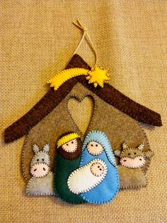 Hand Stitched felt nativity