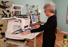 Paulette Bell uses the Brother Entrepreneur® Pro PR-1000e to create embroidered dog coats.
