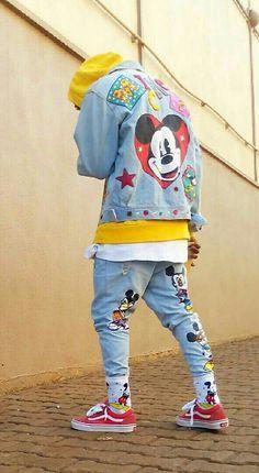 #90S Picks | @houstosoho / @disney Embroided Mickey Mouse #DENIM