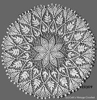 I have to look I made this about 10 years ago, I wonder if I gave it away as a gift or if I still have it. Maybe I still have will post the picture--doily pattern
