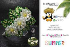 tembleques Beaded Flowers, Swarovski, Daisy, Crafts, Instagram, Bb, Trees, Tutorials, Folklore