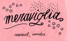 Learning Italian Language ~  Meraviglia