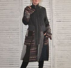 15% OFF, Sweater Coat, Large Tall, Recycled Sweaters, Upcycled clothing, Women,