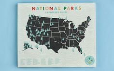 National Parks Map for Travel-Themed Nursery