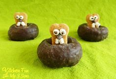 Groundhog Day Donuts · Edible Crafts | CraftGossip.com