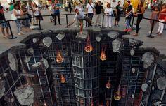 Arte Callejero: 'The Dark Knight Rises' en 3D | La Miscelánea