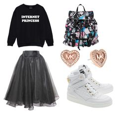 Tziniut by ninaoliveira-i on Polyvore featuring moda, Relaxfeel, Moschino, Disney and Michael Kors