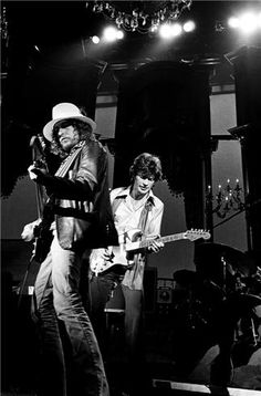 Bob Dylan and Robbie Robertson, San Francisco, CA 1976