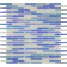 Elida Ceramica Ocean Brick Glass Mosaic Indoor/Outdoor Wall Tile (Common: 13-in x 14-in; Actual: 11.75-in x 12.75-in)