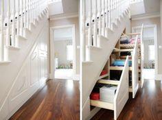 Cool Under Stairs Storage Ideas   Shelterness