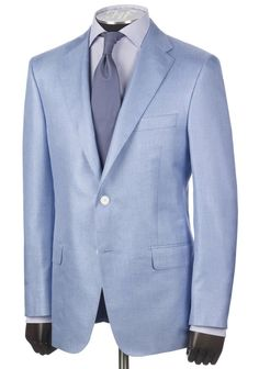 Light Blue Melange Silk Jacket