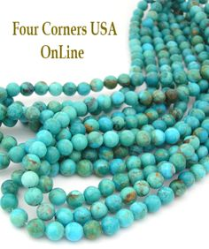 Four Corners USA Online - 6mm Round Kingman Teal Blue Turquoise Beads Designer 16 Inch Strands Jewelry Making Supplies, $76.00 (http://stores.fourcornersusaonline.com/6mm-round-kingman-teal-blue-turquoise-beads-designer-16-inch-strands-jewelry-making-supplies/)