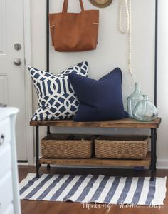 DIY Entryway Organizer inspired by the West Elm pipe line organizer only less than half the price!