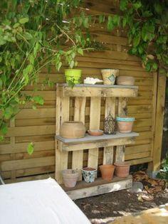 pallet garden shelv